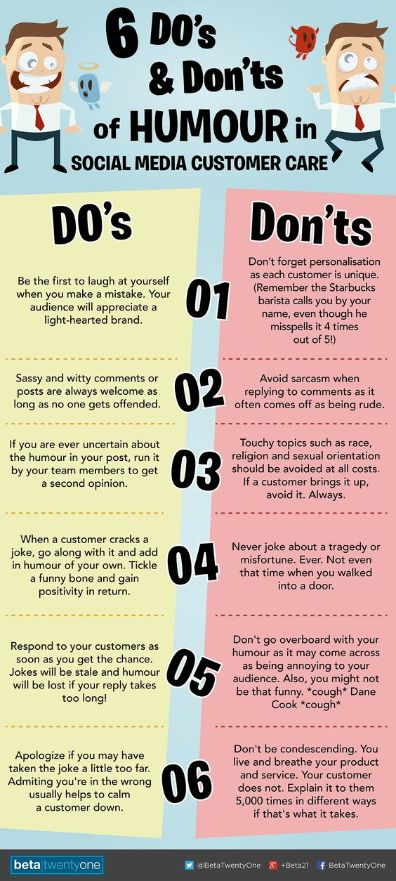 6 Do's and Don'ts of #Humour in #SocialMedia Customer Care