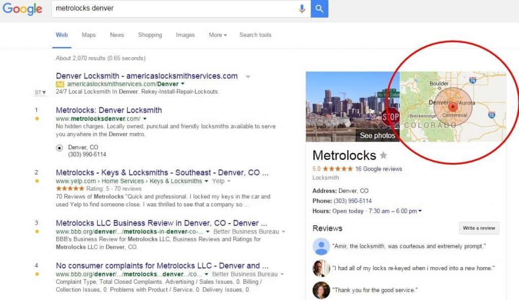 Google My Business Service Listing