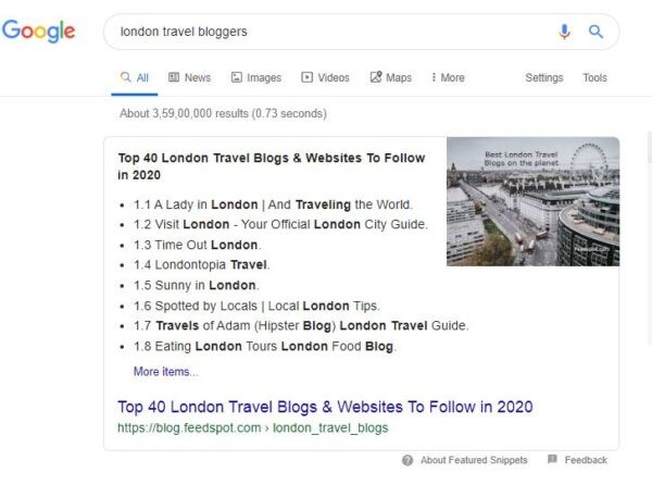 london travel bloggers